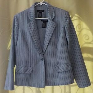Vintage 80s Blazer and Top Blue Stripes 10
